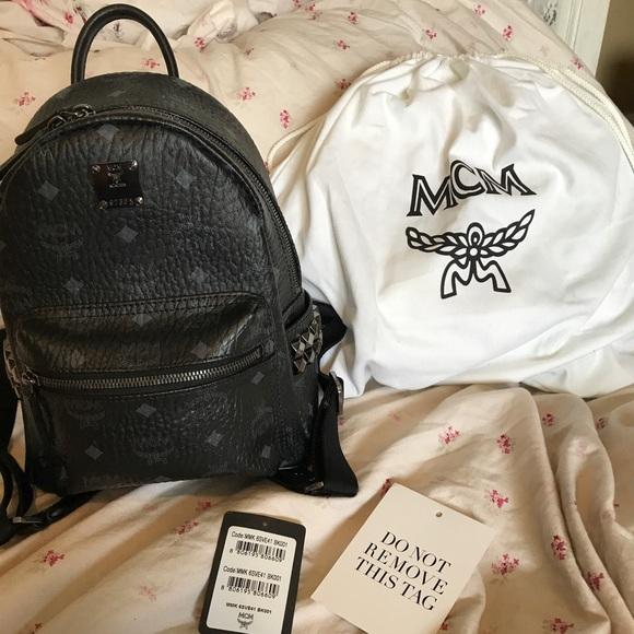 7e71c730ed0c MCM Bags   Nwt Mini Stark Backpack Side Studded Visetos   Poshmark